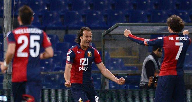 Alberto Gilardino: Has not been the subject of a bid from Monaco and will stay at Genoa, according to his agent