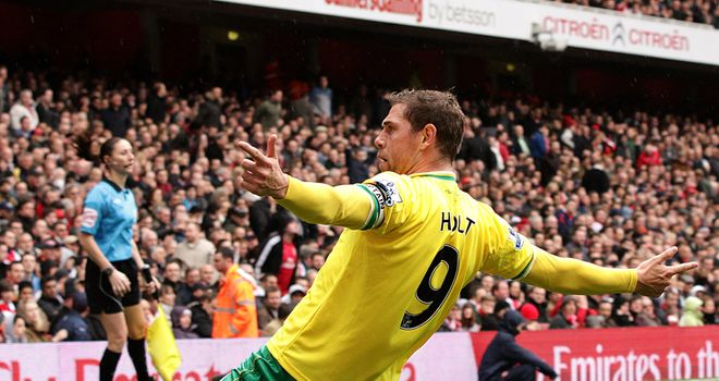 Grant Holt: Paul Lambert says Norwich striker can gain England selection whilst at Canaries