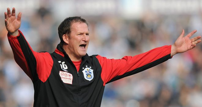 Simon Grayson: Huddersfield manager was upset after the 2-0 defeat by Leicester