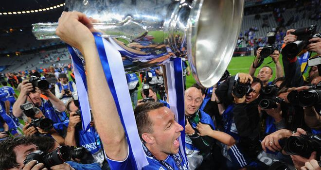 John Terry: The Chelsea skipper lifted the Champions League trophy in May after his team-mates beat Bayern Munich on penalties