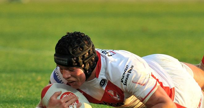 Jonny Lomax: helped himself to a hat-trick as St Helens made light work of the Bradford Bulls on Saturday