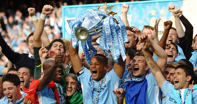 Manchester City: claimed their first ever Premier League title in 2011/12 in dramatic fashion