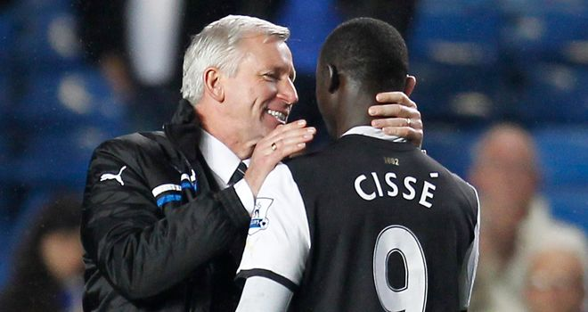 Alan Pardew and Papiss Cisse: Duo have been quick to play down the incident against QPR