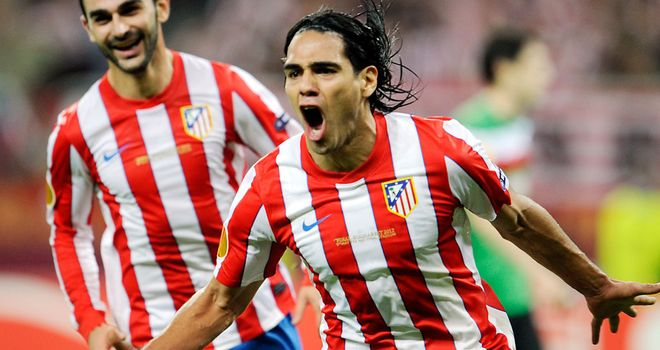 Radamel Falcao: Attracting plenty of interest but is considered to be indispensible by Atletico Madrid