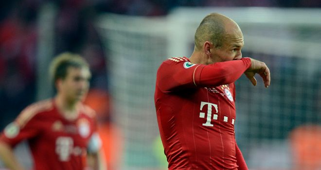 Arjen Robben: Lost out in last-years DFB Pokal final, which this season has excluded Dresden