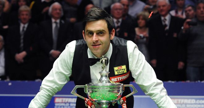 Ronnie O'Sullivan: four world titles including the 2012 crown