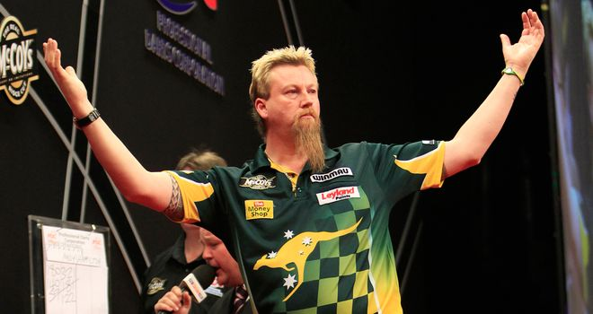 Simon Whitlock: Proved too strong for Wes Newton in Sunday's final
