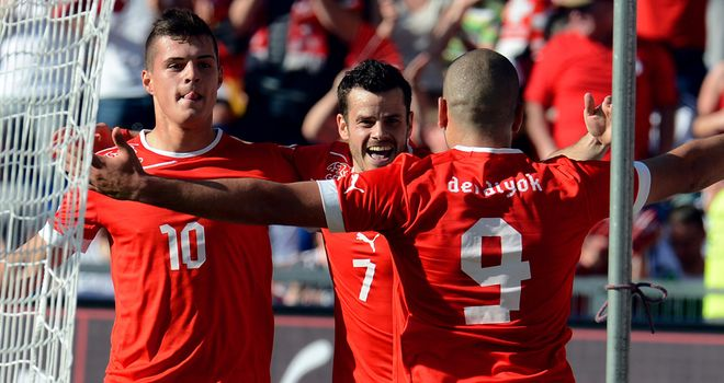 Eren Derdiyok: Scored a hat-trick for Switzerland to stun Germany