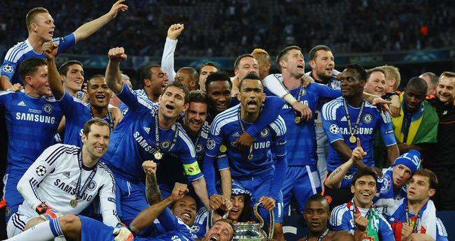 Chelsea celebrated European glory at the Allianz Arena last season