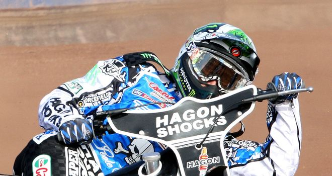 Chris Holder: Notched a near-perfect 23 points to win in Cardiff. Pic credit - Mike Hinves