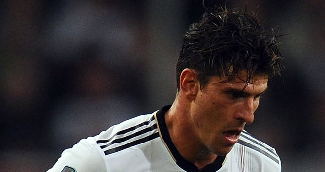Mario Gomez: The Bayern Munich striker put Germany ahead in Leipzig