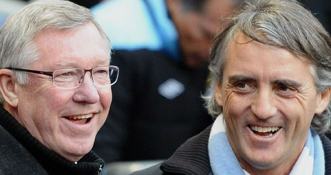 Sir Alex Ferguson and Roberto Mancini: In agreement over the title race