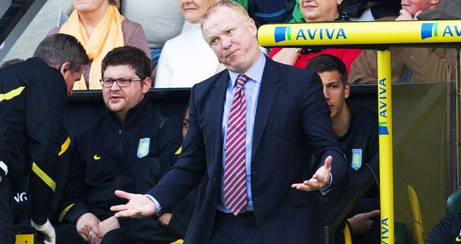 Alex McLeish: Axed by Aston Villa after just one season in charge