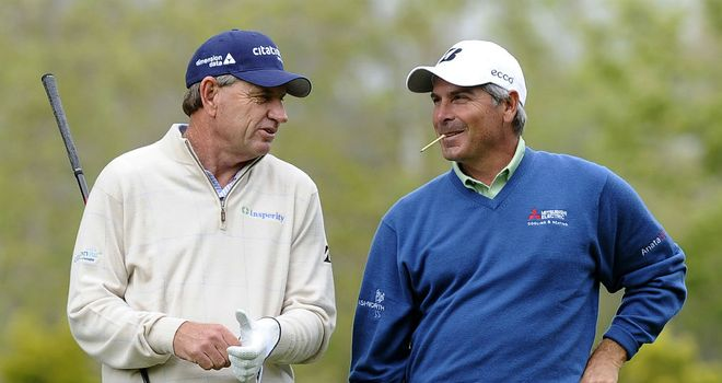 Nick Price (left) and Fred Couples: captaincy battle at Presidents Cup