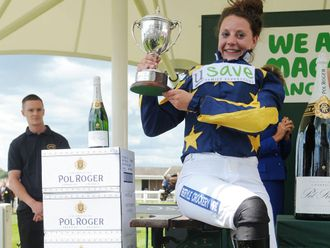 Jacqueline Coward rode Royal Ascot hero Pevensey to his first point win
