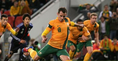 Luke Wilkshire: Scored from the penalty spot to secure a point for Australia against Japan