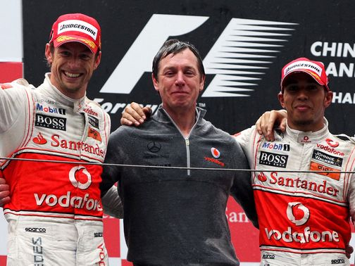 Tim Goss (centre): New McLaren role