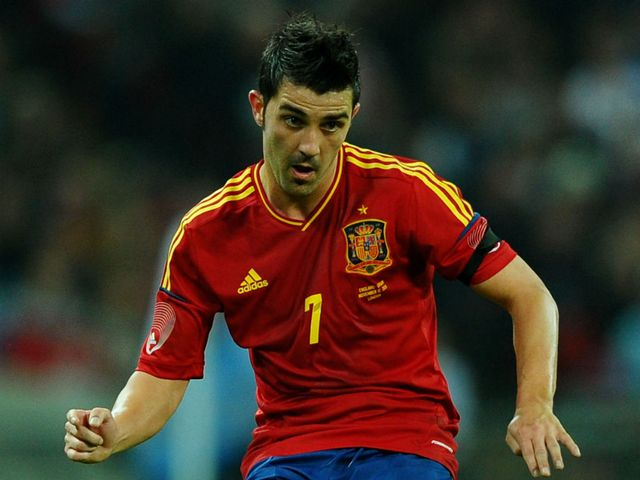 David Villa: On target for Spain
