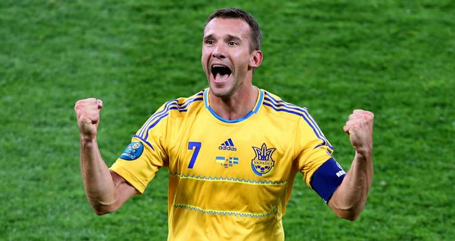 Andriy Shevchenko: The Ukraine striker is struggling with a knee problem