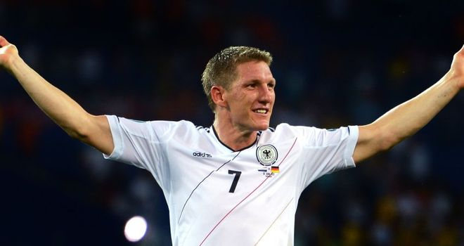 Bastian Schweinsteiger: The Bayern Munich star is given the all-clear to lead Germany against Italy in the their Euro 2012 semi-final