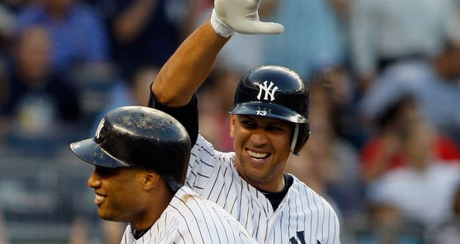 Alex Rodriguez: Blasted a huge 300th home run for the Yankees