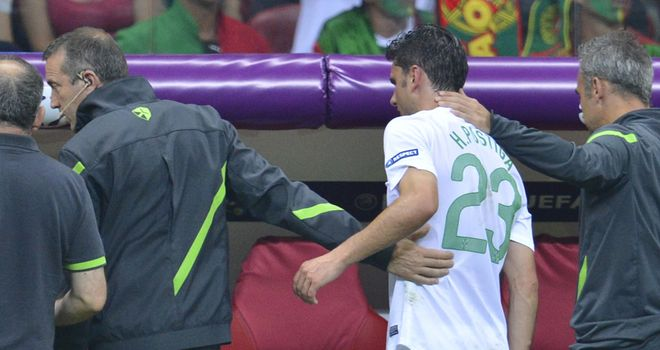 Helder Postiga: Will miss Portugal's Euro 2012 semi-final with a thigh injury