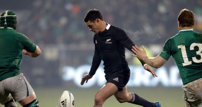 Dan Carter missed his first attempt at goal