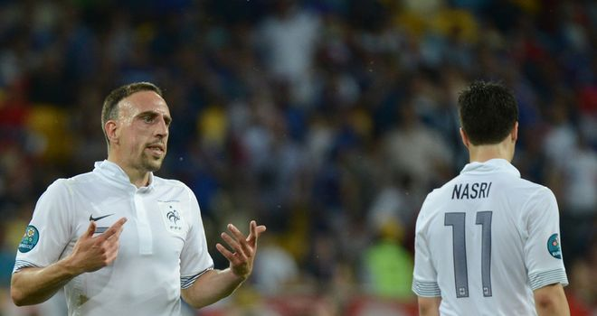 Franck Ribery and Samir Nasri: France duo declared fit to face Spain
