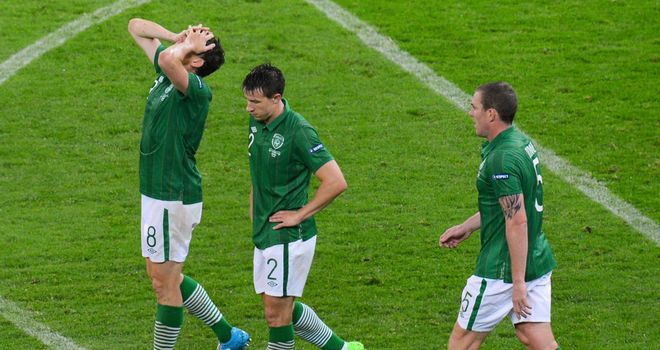 Republic of Ireland players endured a chastening experience against Spain