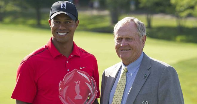 Tiger Woods needs a further four majors to equal Jack Nicklaus' record total of 18