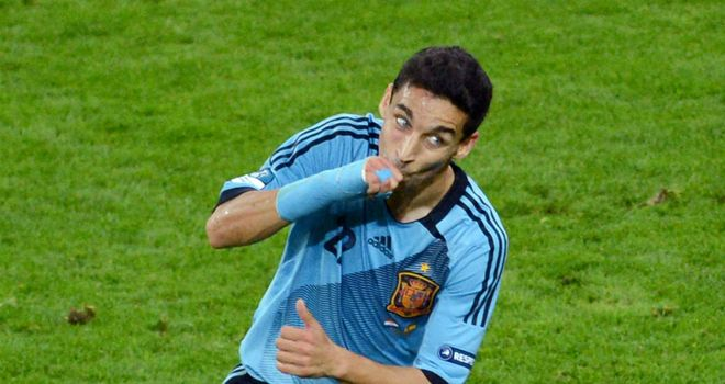 Jesus Navas: Scored his first goal for Spain in a competitive match