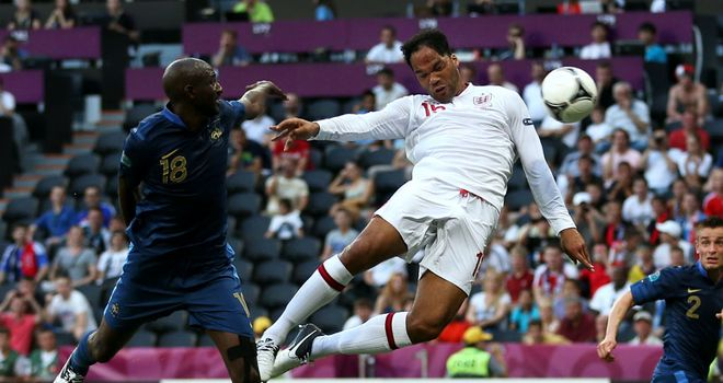 Joleon Lescott: The centre-back put England in front in the first half in Donetsk