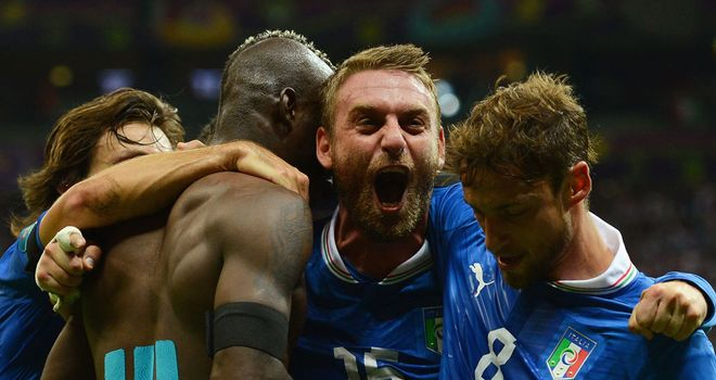 Stylish: Italy impressed Jeff in their semi-final - but Spain didn't