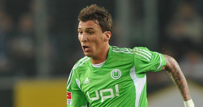 Mario Mandzukic: Could be set for a summer move after a successful Euro 2012, but Wolfsburg insists they are not under pressure to sell