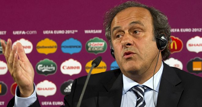 Michel Platini: Threatening to kick Serbia and Croatia out of World Cup 2014