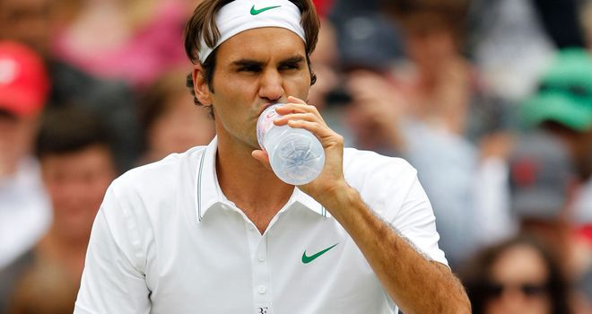 Roger Federer: Was an easy winner in the first round of Wimbledon
