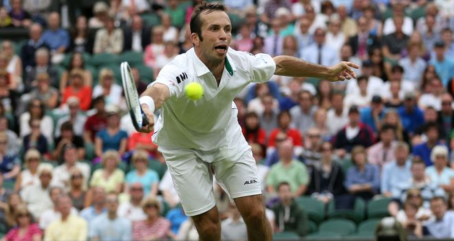 Radek Stepanek stunned top seed Novak Djokovic when he took the first set.