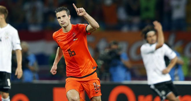 Van Persie: Scored Holland's solitary goal at Euros