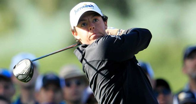 Rory McIlroy: The tournament favourite tees off at 1250.