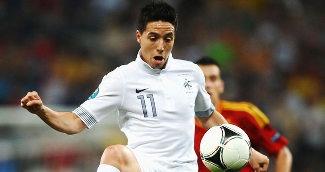 Samir Nasri: Clashed with a reporter following France's quarter-final defeat to Spain