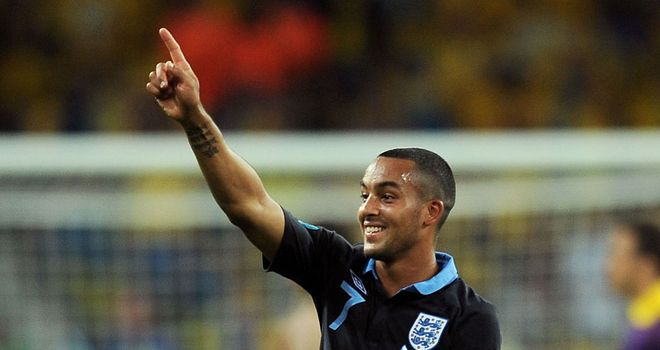 Theo Walcott: Available for England's clash with Ukraine in Donetsk
