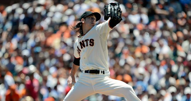 Tim Lincecum: Helped the Giants to victory
