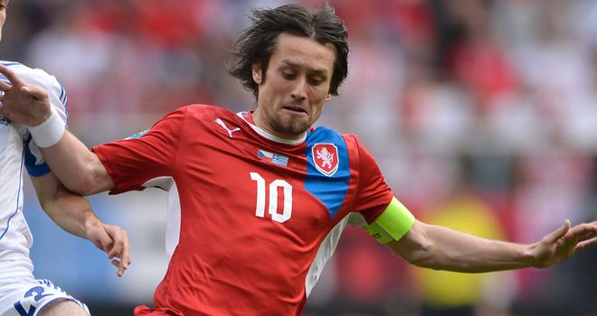 Tomas Rosicky: Czech Republic's talisman may miss their quarter-final game