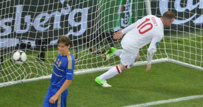 Wayne Rooney: England striker celebrates after finding the net from close range
