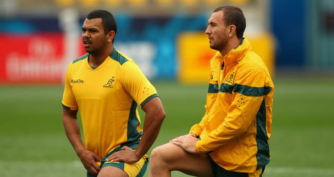 Kurtley Beale (L) and Quade Cooper (R) were involved in an incident at a Brisbane hotel