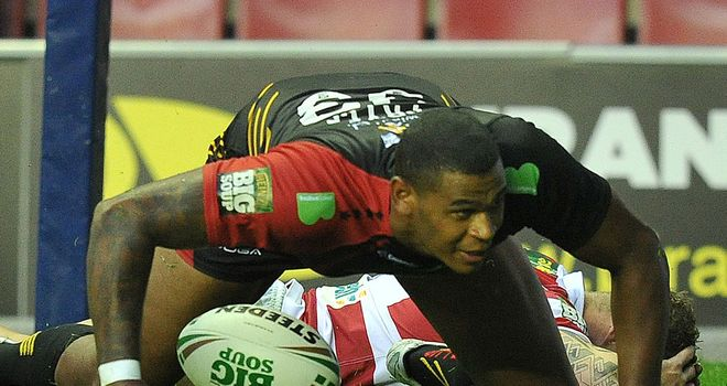 Karl Pryce: two tries against his former employers sealed a shock win on Friday