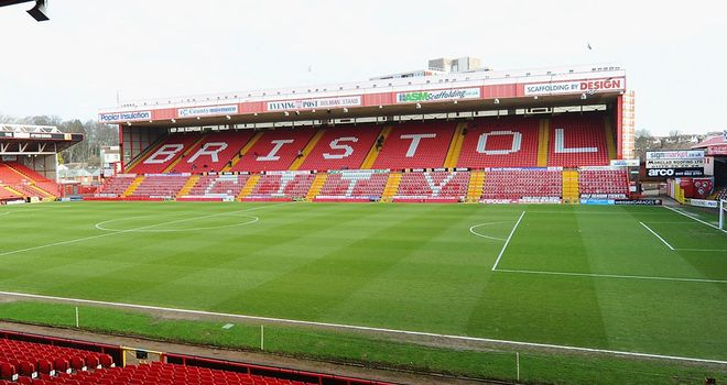 Ashton Gate: Waterlogged pitch
