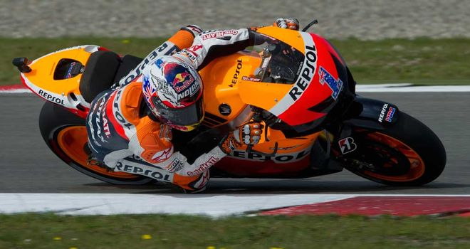 Casey Stoner: clocked a best lap time of one minute 33.713secs in the closing stages