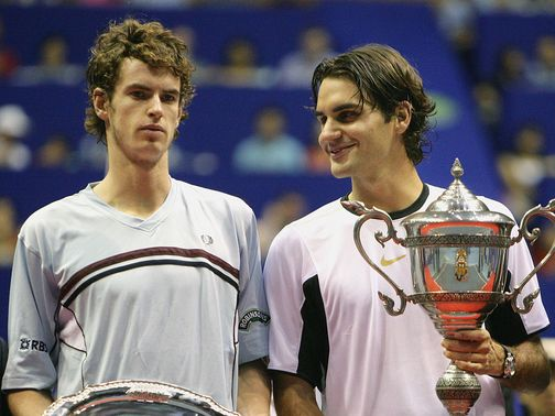 Federer first met - and beat - an 18-year-old Murray in 2005