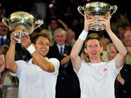 Jonny Marray (r): Wants to break into the GB Davis Cup team